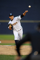 Trenton Thunder starting pitcher Manny Banuelos #13 delivers a pitch during a game against the Richmond Flying Squirrels at Waterfront Park on August 23, 2010 in Trenton, NJ.  Photo By David Schofield/Four Seam Images