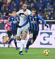 Steven Nzonzi of AS Roma , Mario Pasalic of Atalanta <br /> Bergamo 27-1-2019 Stadio Atleti Azzurri d'Italia, Football Serie A 2018/2019 Atalanta - AS Roma<br /> Foto Image Sport / Insidefoto