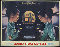 2001: A Space Odyssey (1968) <br /> Lobby card with Keir Dullea &amp; Gary Lockwood<br /> *Filmstill - Editorial Use Only*<br /> CAP/KFS<br /> Image supplied by Capital Pictures