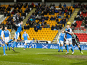16th March 2018, McDiarmid Park, Perth, Scotland; Scottish Premier League football, St Johnstone versus Hibernian; Efe Ambrose of Hibernian scores the opening goal in the 2nd minute