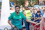 04.09.2018, Hoheellern-Stadion, Leer, GER, FSP, Werder Bremen (GER) vs FC Emmen (NED)<br /> <br /> DFL REGULATIONS PROHIBIT ANY USE OF PHOTOGRAPHS AS IMAGE SEQUENCES AND/OR QUASI-VIDEO.<br /> <br /> im Bild / picture shows<br /> Nuri Sahin (Werder Bremen #17) wird von Fans begrüßt, Sahin klatscht mit Fans ab, <br /> <br /> Foto © nordphoto / Ewert