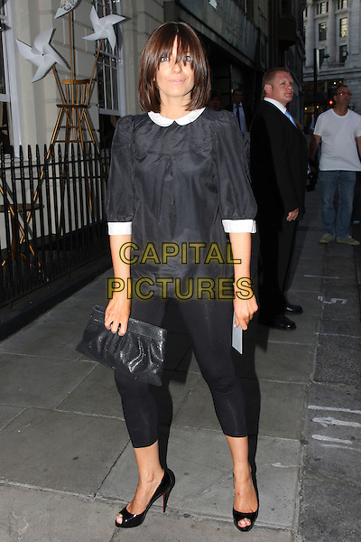CLAUDIA WINKLEMAN .Beth Ditto For Evans - Launch Party,  Sketch, London, England. .July 1st, 2009.full length black dress top white collar cuffs leggings .CAP/MAR.© Martin Harris/Capital Pictures.