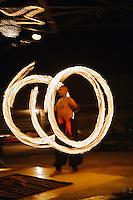Performer twirling fire, Cairo, Egypt