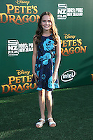 HOLLYWOOD, CA- AUGUST 8:  Oona Laurence at the Disney premiere of 'Pete's Dragon' at El Capitan Theater in Hollywood, California, on August 8, 2016. Credit: David Edwards/MediaPunch