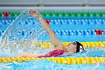 Sayaka Akase (JPN), <br /> AUGUST 19, 2018 - Swimming : <br /> Women's 200m Backstroke Heat <br /> at Gelora Bung Karno Aquatic Center <br /> during the 2018 Jakarta Palembang Asian Games <br /> in Jakarta, Indonesia. <br /> (Photo by Naoki Nishimura/AFLO SPORT)