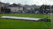 Clydesdale V West of Scotland, Scottish National Cricket League, Premier Division, at Titwood - the covers on, and rain streaming down the clubhouse windows mid-match, it was no wonder that the game, won by the home side, was completed under Duckworth-Lewis rules - Picture by Donald MacLeod 18.07.09