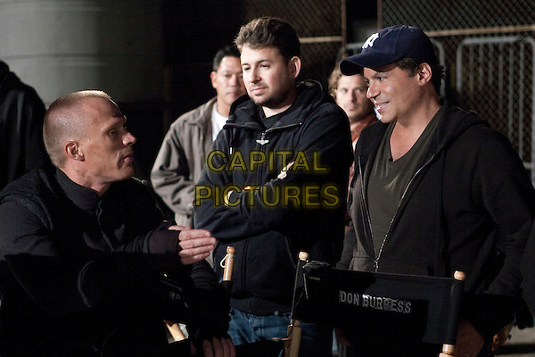 Paul Bettany, executive producer Josh Bratman and producer Michael De Luca.on the set of Priest.*Filmstill - Editorial Use Only*.CAP/FB.Supplied by Capital Pictures.