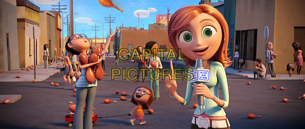 "SCENE with ""Sam Spark"" voiced by Anna Farris.in Cloudy with a Chance of Meatballs.*Filmstill - Editorial Use Only*.CAP/FB.Supplied by Capital Pictures."