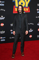 "HOLLYWOOD, CA - JUNE 11: Keanu Reeves, at The Premiere Of Disney And Pixar's ""Toy Story 4"" at El Capitan theatre in Hollywood, California on June 11, 2019. <br /> CAP/MPIFS<br /> ©MPIFS/Capital Pictures"