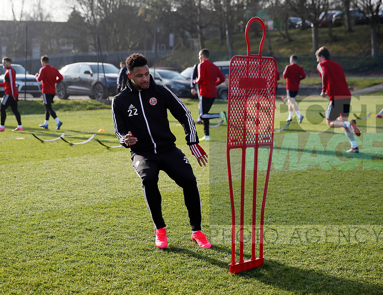 Lys Mousset of Sheffield Utd during the Press Conference & Training at the Steelphalt Academy, Sheffield. Picture date: 7th February 2020. Picture credit should read: Simon Bellis/Sportimage