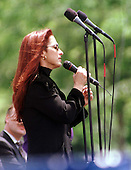 """Gloria Estefan sings """"Always Tomorrow"""" at the 16th Annual National Peace Officers' Memorial Day Service at the U.S. Capitol in Washington, D.C. on May 15, 1997..Credit: Ron Sachs / CNP"""