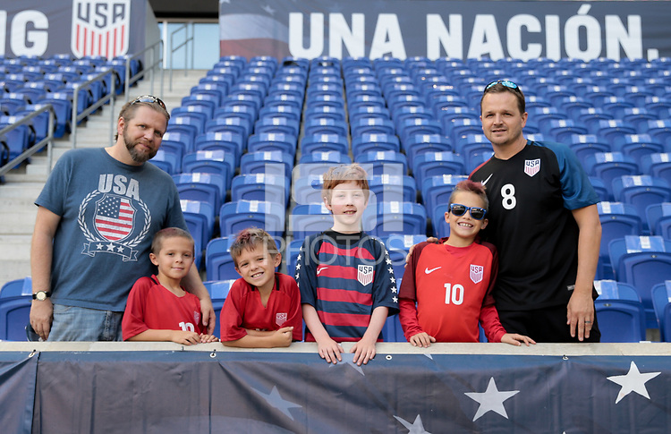 Harrison, N.J. - Friday September 01, 2017: USA supporters during a 2017 FIFA World Cup Qualifying (WCQ) round match between the men's national teams of the United States (USA) and Costa Rica (CRC) at Red Bull Arena.