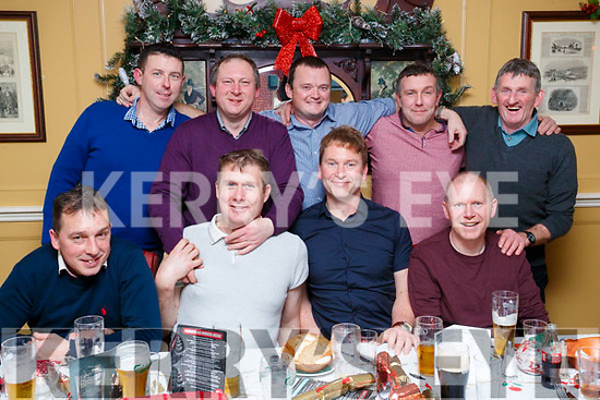 Flaherty's Hardware, Kilmoyley, enjoying their Christmas party the Brogue Inn on Saturday night last were front l-r: TJ Maunsell, Maurice O'Driscoll, Liam Flaherty and Kevin O'Sullivan. Back l-r: DJ Flaherty, Michael Flaherty, Anthony Nolan, Pat Deenihan and John B. Griffin.