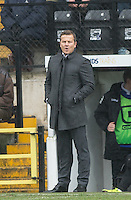 Mark Cooper Manager of Notts County during the Sky Bet League 2 match between Notts County and Wycombe Wanderers at Meadow Lane, Nottingham, England on 28 March 2016. Photo by Andy Rowland.