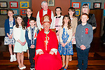 Drumnacurra NS Confirmations: Pupils from Drumnacurra NS who were confirmed in Ballyduff Church by Bishop Ray Browne on Wednesday 25th March. Back L - R,  Debora Canty, Patricijia Griciute, Fr Brendan Walsh, Norah Leen, Ciara O Hanlon, M/s Regina O Connor.<br /> Front L &ndash; R Lisa and Liam Barrett, Bishop Ray Browne, Ericka Diggins, Daniel Burke.