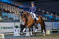 Cooper Oborn rides Revelwood Showtime during the Intermediate 1 Dressage. Final-2nd. 2019 Equitana Auckland. ASB Showgrounds. Auckland. New Zealand. Friday 22 November. Copyright Photo: Libby Law Photography