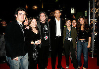 Sept 22 , 2005, Montreal (Qc) Canada<br /> Japanese actor and film maker SABU pose with<br /> Canadian Film maler Claude Gagnon (3rd from left) , at the Premiere of DEAD RUN, September 22 in MOntreal<br /> Photo : (c) 2005 Pierre Roussel