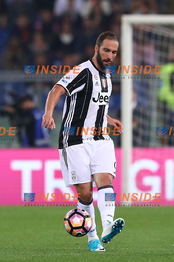 Gonzalo Gerardo Higuain Juventus<br /> Roma 14-05-2017  Stadio Olimpico <br /> Campionato Serie A AS Roma - Juventus<br /> Foto Cesare Purini / Insidefoto