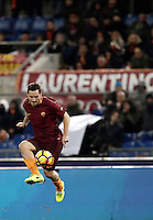 Calcio, Serie A: Roma, stadio Olimpico, 19 febbraio 2017.<br /> Roma&rsquo;s Francesco Totti in action during the Italian Serie A football match between As Roma and Torino at Rome's Olympic stadium, on February 19, 2017.<br /> UPDATE IMAGES PRESS/Isabella Bonotto