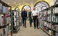 Prince William Duke Of Cambridge and Kate Duchess of Cambridge Visit Central Library