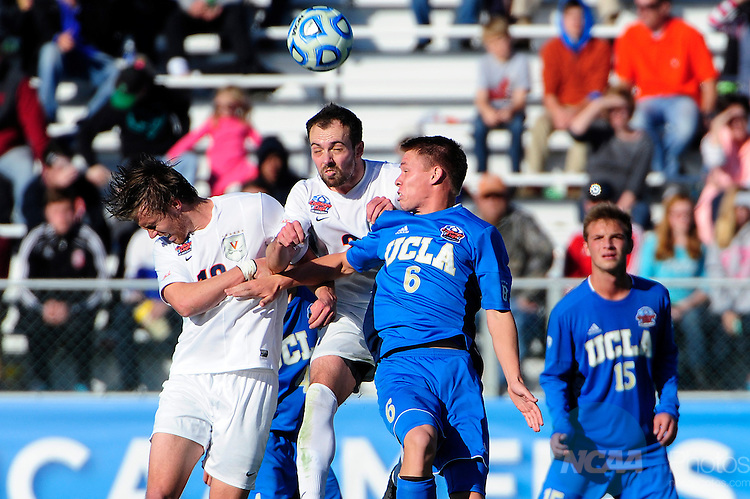 14 DEC 2014: The University of Virginia takes on UCLA during the Division I Men's Soccer Championship held at WakeMed Soccer Park in Cary, NC. Virginia defeated UCLA 0-0 (4-2) to win the program's seventh national title.  Jeffrey A. Camarati/NCAA Photos