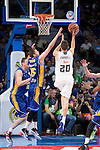 Real Madrid's Jaycee Carroll and UCAM Murcia's Wood during the first match of the playoff at Barclaycard Center in Madrid. May 27, 2016. (ALTERPHOTOS/BorjaB.Hojas)