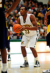 13 December 2009: University of Vermont Catamounts' forward Marqus Blakely, a Senior from Metuchen, NJ, sets to take a foul shot against the Quinnipiac University Bobcats at Patrick Gymnasium in Burlington, Vermont. Blakely scored a career-high 32-point game as the Catamounts defeated the visiting Bobcats 80-77 to mark the Cats' season home opener with a win. Mandatory Credit: Ed Wolfstein Photo