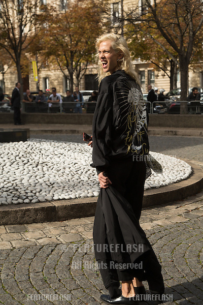 Aymeline Valade attend Miu Miu Show Front Row - Paris Fashion Week  2016.<br /> October 7, 2015 Paris, France<br /> Picture: Kristina Afanasyeva / Featureflash