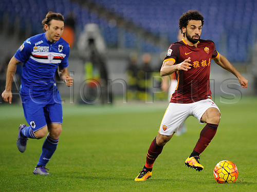 07.02.2016. Stadium Olimpico, Rome, Italy.  Serie A football league. AS Roma versus Sampdoria. SALAH MOHAMED IN ACTION