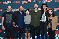 NEW YORK, NY - OCTOBER 7:  Eric Wald, Ian Verdun, Eline Powell, Alex Roe, Fola Evans-Akingbola and Emily Whitesell at Freeform's Siren at New York Comic Con on October 7, 2017 in New York City.   <br /> CAP/MPI/DC<br /> &copy;DC/MPI/Capital Pictures