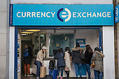 Currency Exchange, Oxford Street, London.