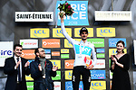 Wout Poels (NED) Team Sky wins Stage 4 of the Paris-Nice 2018 an 18km individual time trial running from La Fouillouse to Saint-Etienne, France. 7th March 2018.<br />