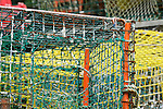 Southport Harbor. Old lobster trap graphic.