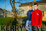 Two lads Aaron Nolan and Anthony Begley   alerted the neighbours, after the  upper floor of the two-storied building was engulfed in fire at Desmonds Avenue Castleisland and went into the house to help the lady of the house Chris Birmingham-Doody