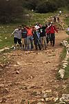 Israel, Upper Galilee, Israel Trail at the Peak Trail on Mount Meron