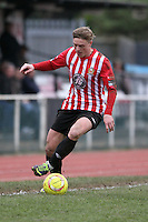 George Purcell of Hornchurch runs with the ball - AFC Hornchurch vs Bognor Regis Town - Ryman League Premier Division Football at The Stadium, Bridge Avenue, Upminster - 07/02/15 - MANDATORY CREDIT: Mark Hodsman/TGSPHOTO - Self billing applies where appropriate - contact@tgsphoto.co.uk - NO UNPAID USE