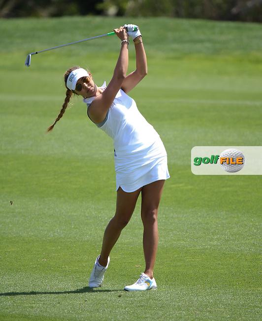 29 MAR15 Former UCLA wonder girl Alison Lee during Sunday's Final Round of The KIA Classic at Aviara Golf Club in LaCosta, California. (photo credit : kenneth e. dennis/kendennisphoto.com)