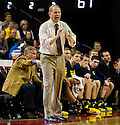 January 9, 2014: Head coach John Beilein of the Michigan Wolverines in the game against the Nebraska Cornhuskers at the Pinnacle Bank Areana, Lincoln, NE. Michigan defeated Nebraska 71 to 70.