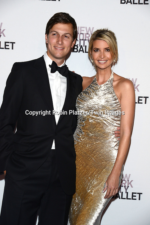 Ivanka Trump and husband Jared Kushner attend the New York City Ballet's 3rd Annual  Fall Fashion Gala on September 23, 2014 at David Koch Theatre in Lincoln Center in New York City. <br /> <br /> photo by Robin Platzer/Twin Images<br />  <br /> phone number 212-935-0770