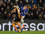 Jake Livermore of Hull City tussles with Ross Barkley of Everton during the English Premier League match at the KCOM Stadium, Kingston Upon Hull. Picture date: December 30th, 2016. Pic Simon Bellis/Sportimage