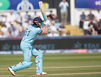 Jonny Bairstow (England) drives through the covers for four runs during England vs New Zealand, ICC World Cup Cricket at The Riverside Ground on 3rd July 2019
