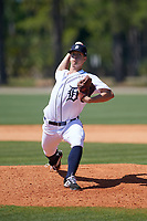Detroit Tigers Garrett Hill (72) during a Minor League Spring Training game against the Toronto Blue Jays on March 22, 2019 at the TigerTown Complex in Lakeland, Florida.  (Mike Janes/Four Seam Images)