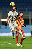 Antonio Candreva-Gianluca Di Chiara<br /> Milano 13-1-2019 Stadio Giuseppe Meazza <br /> Football Italy Cup 2018/2019 Inter - Benevento <br /> Foto Image Sport  / Insidefoto