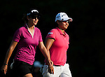Yani Tseng of Taiwan and Azahara Munoz of Spain in action during the Day 4 of the LPGA Sunrise Taiwan Championship on at Sunrise Golf Course on October 23, 2011 in Taoyuan, Taiwan. Photo by Victor Fraile / The Power of Sport Images