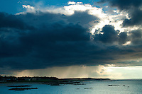 Storm clouds over North Berwick, East Lothian