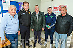 Pat Dowling, Cllr Fionnán Fitzgerald, Cllr Bobby O'Connell, Cllr Jackie Healy-Rae and George Glover attending the meeting on the proposed Asphalt Plant in the Ballymacelligott Community Centre on Thursday night.