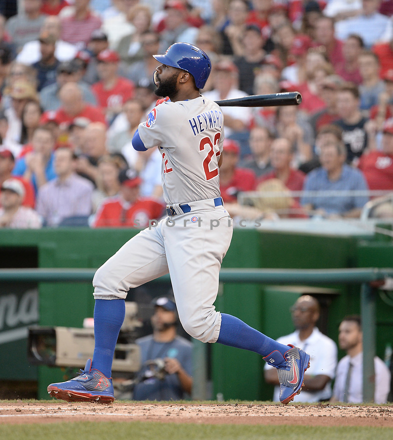 Chicago Cubs Jason Heyward (22) during a game against the Washington Nationals on June 14, 2016 at Nationals Park in Washington, DC. The Cubs beat the Nationals 4-3.