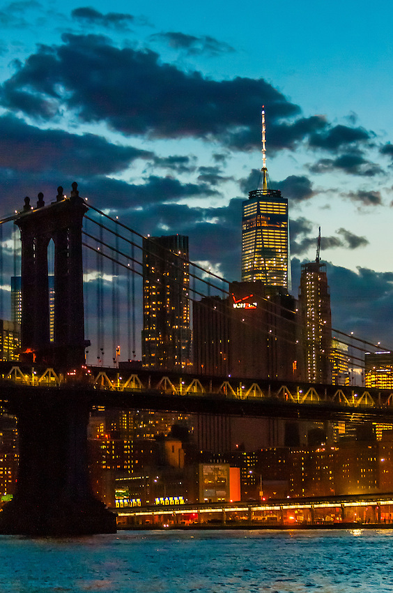 Manhattan Bridge, New York, New York USA.