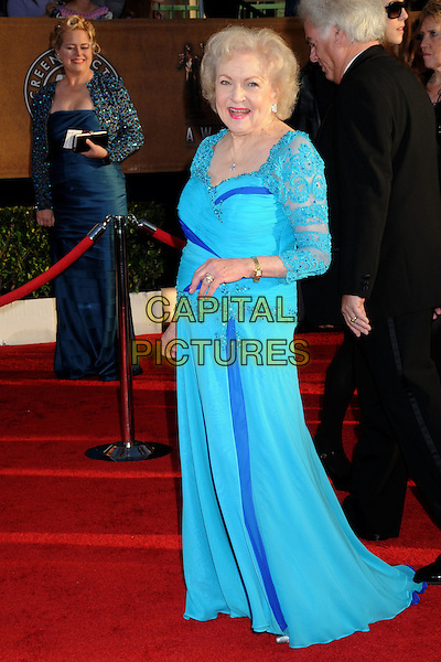 BETTY WHITE.16th Annual Screen Actors Guild Awards - Arrivals held at The Shrine Auditorium, Los Angeles, California, USA..January 23rd, 2009.SAG SAGs full length blue turquoise maxi dress lace .CAP/ADM/BP.©Byron Purvis/Admedia/Capital Pictures