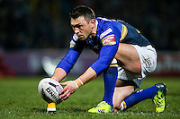 Picture by Alex Whitehead/SWpix.com - 13/02/2015 - Rugby League - First Utility Super League - Leeds Rhinos v Widnes Vikings - Headingley Carnegie Stadium, Leeds, England - Leeds' Kevin Sinfield prepares to kick for goal.